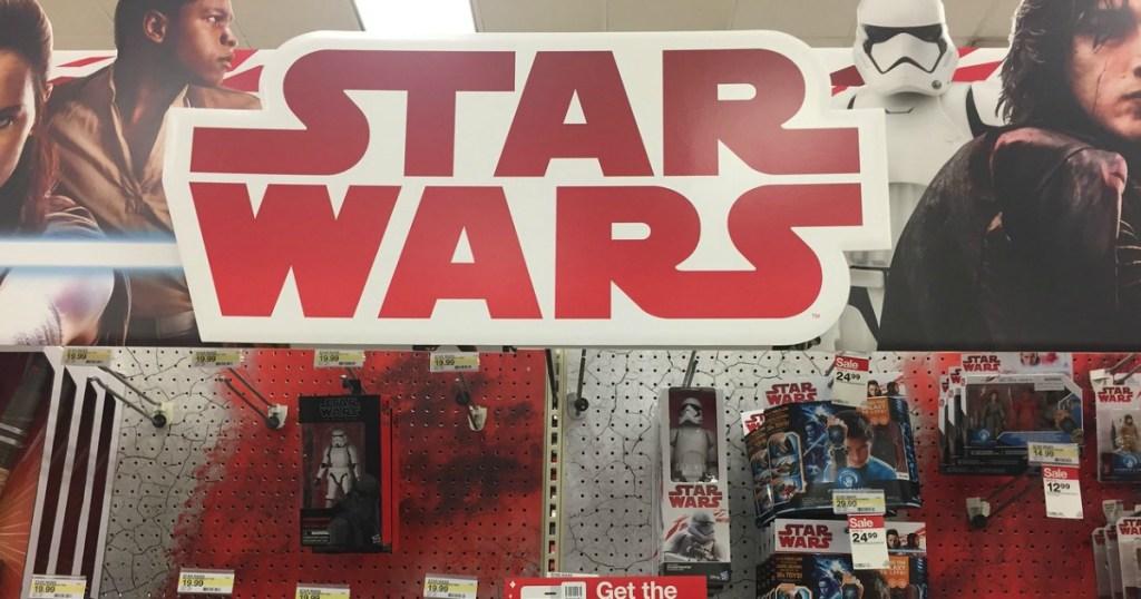 Star Wars sign at Target