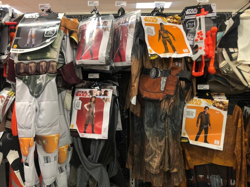 Star wars Costumes in Target Aisle