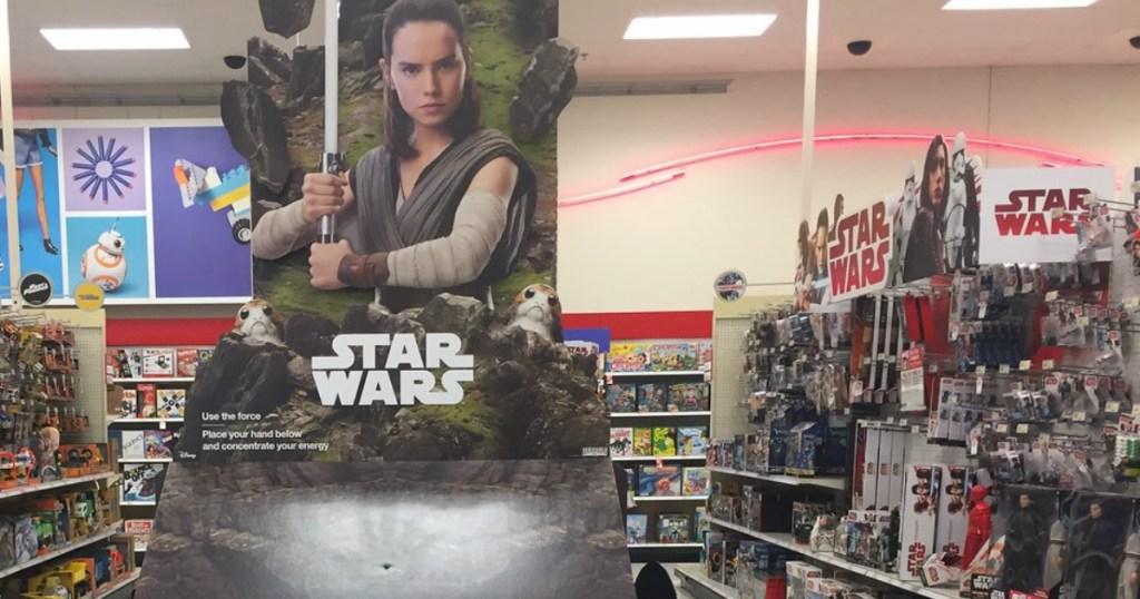 Star wars aisle of toys at Target