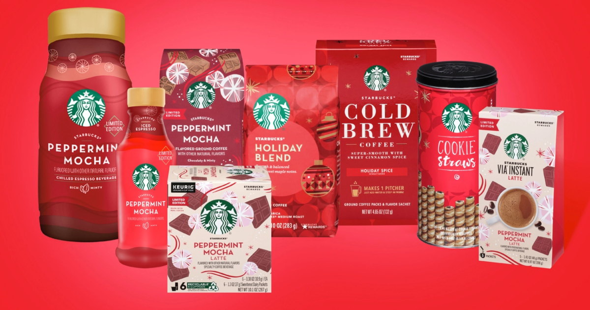 Starbucks Holiday at Home merchandise
