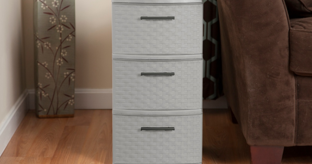 storage drawer tower in living room