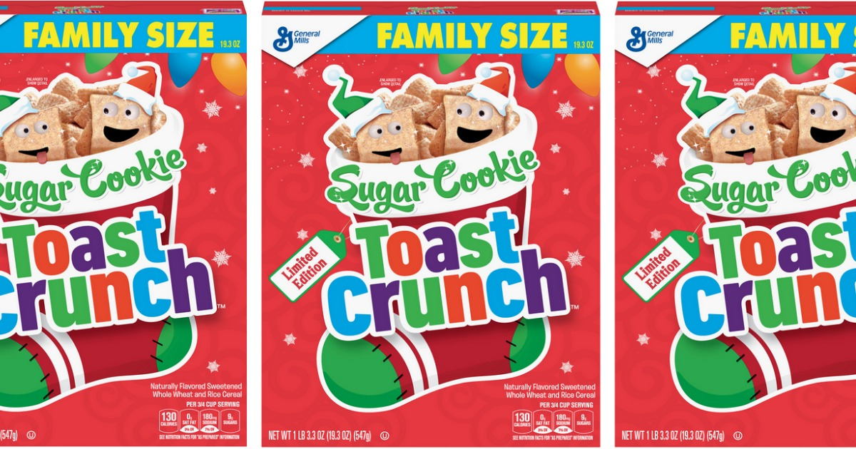 Boxes of Sugar Cookie Toast Crunch cereals