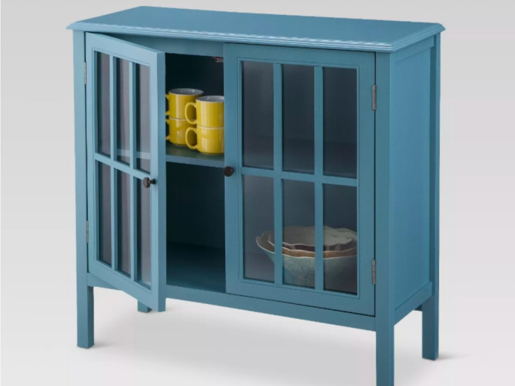 Threshold teal side table