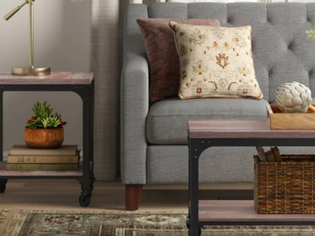 furniture in a living room from Target