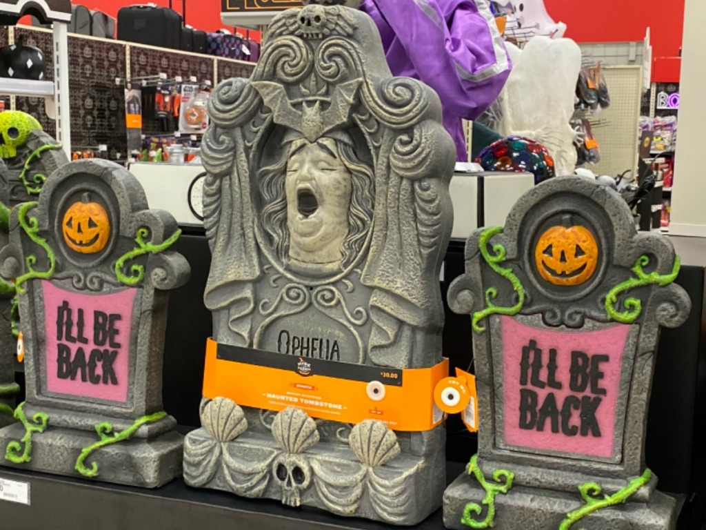 Tombstone Decor at Target, in-store on display