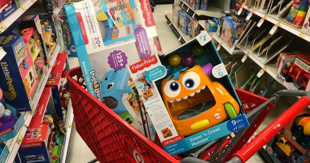 Target Toys in cart