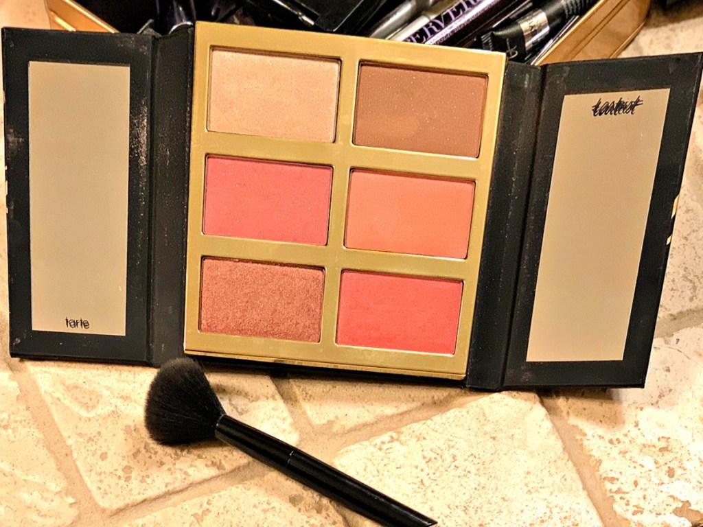 Tarte Tarteist Pro Glow & Blush Cheek Palette opened up