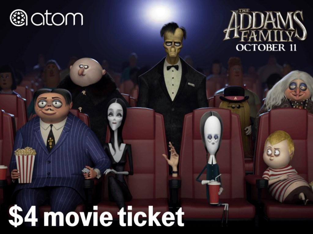 The Addams Family in movie theatre