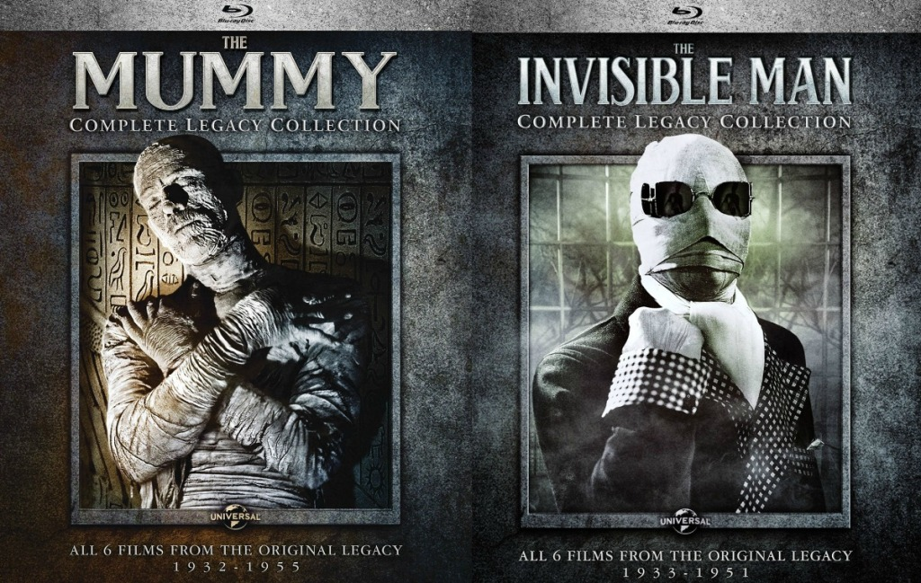 The Mummy Complete Legacy Blu-ray Set and Invisible Man Set