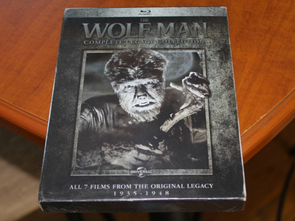 The Wolf Man Complete Legacy Blu-ray in case on table