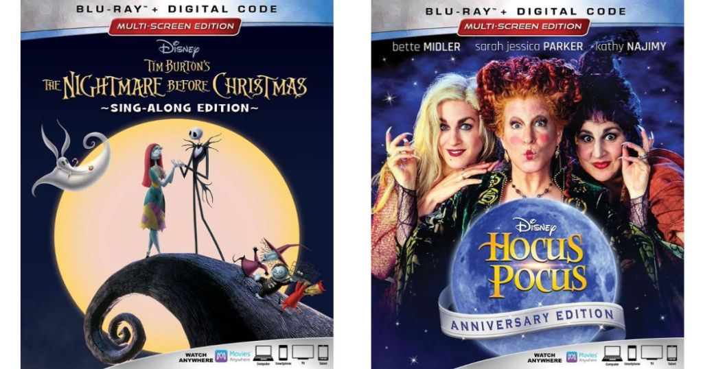 The nightmare before christmas and hocus pocus