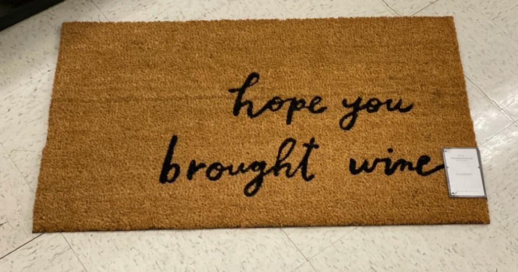 Threshold Hope You Brought Wine Rug