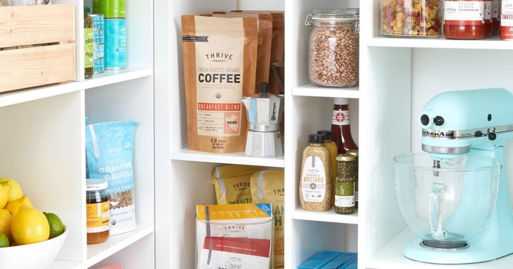 Thrive Market products stocked in pantry