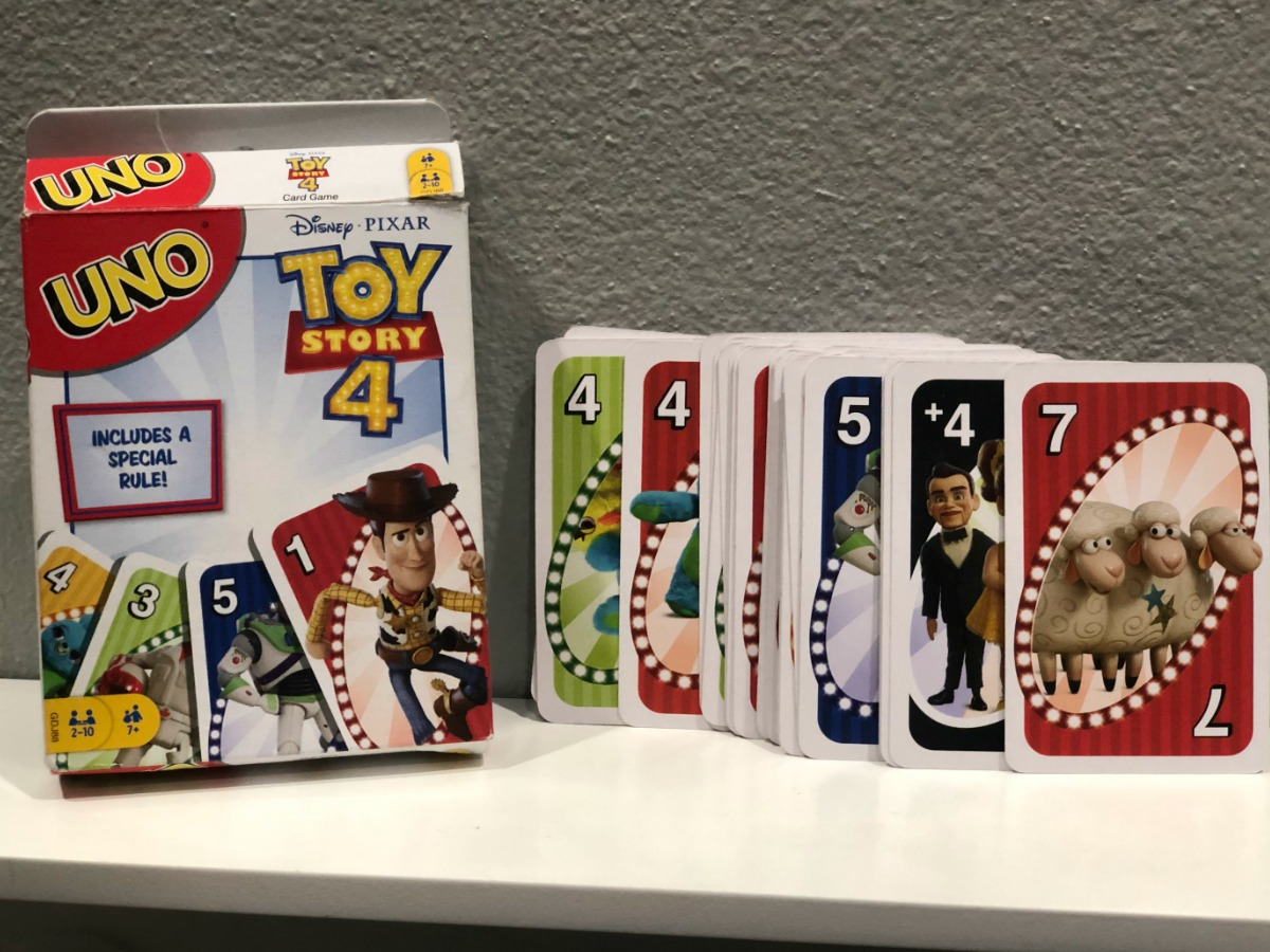 Toy Story 4 Card Game with cards