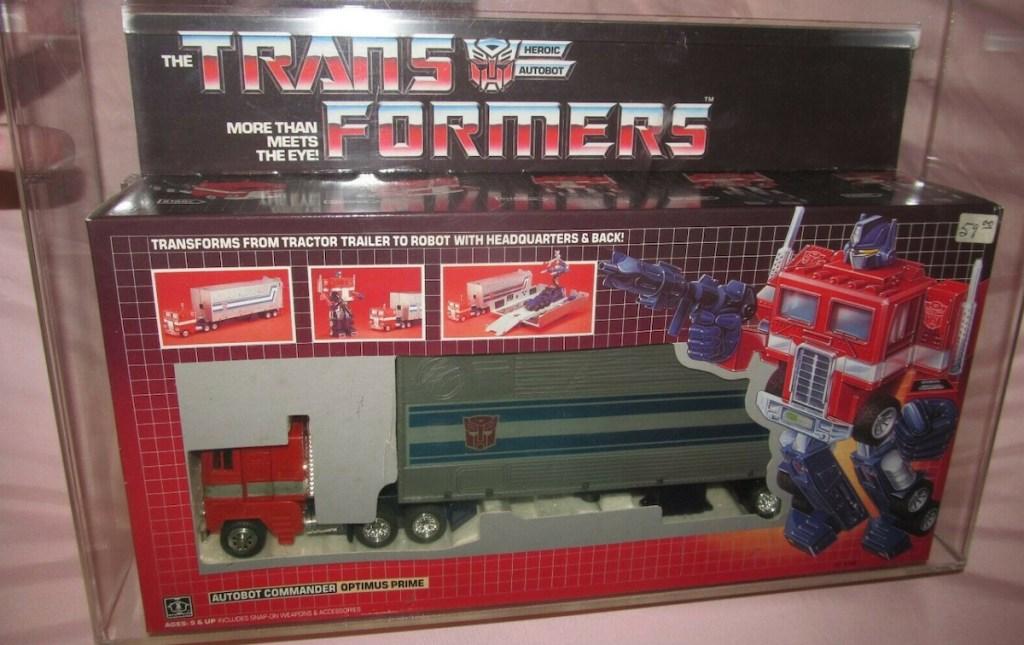 optimus prime truck transformers in box