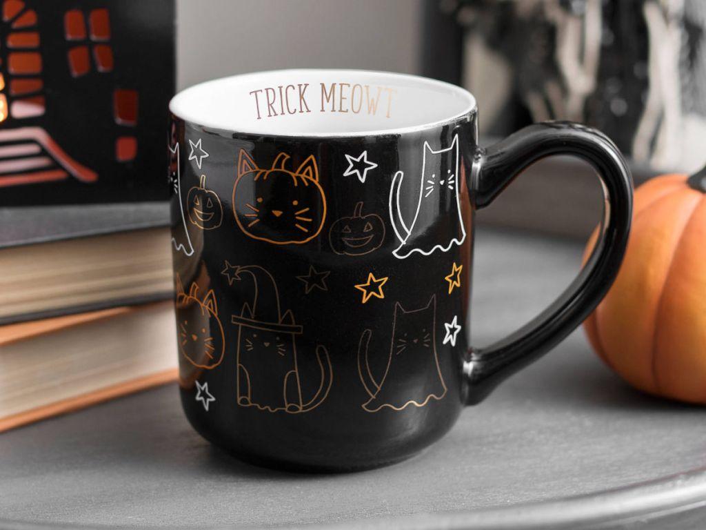Trick Meowt Black Cat Mug