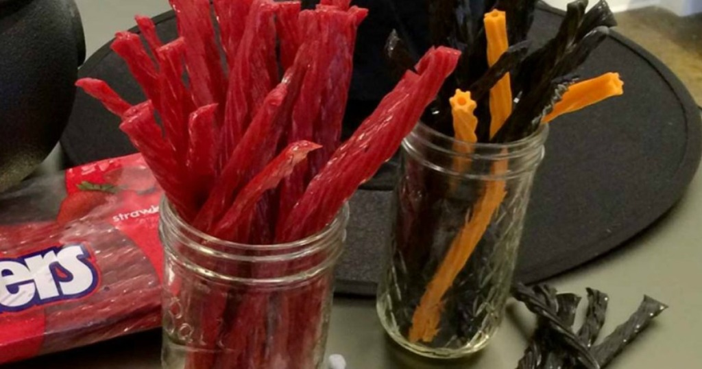 Twizzlers Candy with Halloween Decor