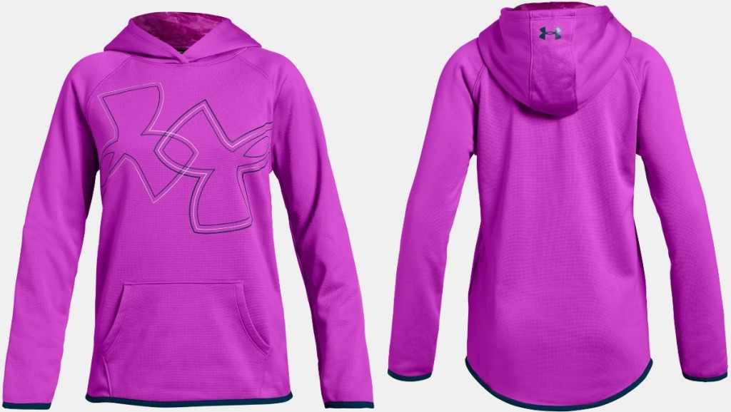 Under Armour Girls Fleece hoodie in pink