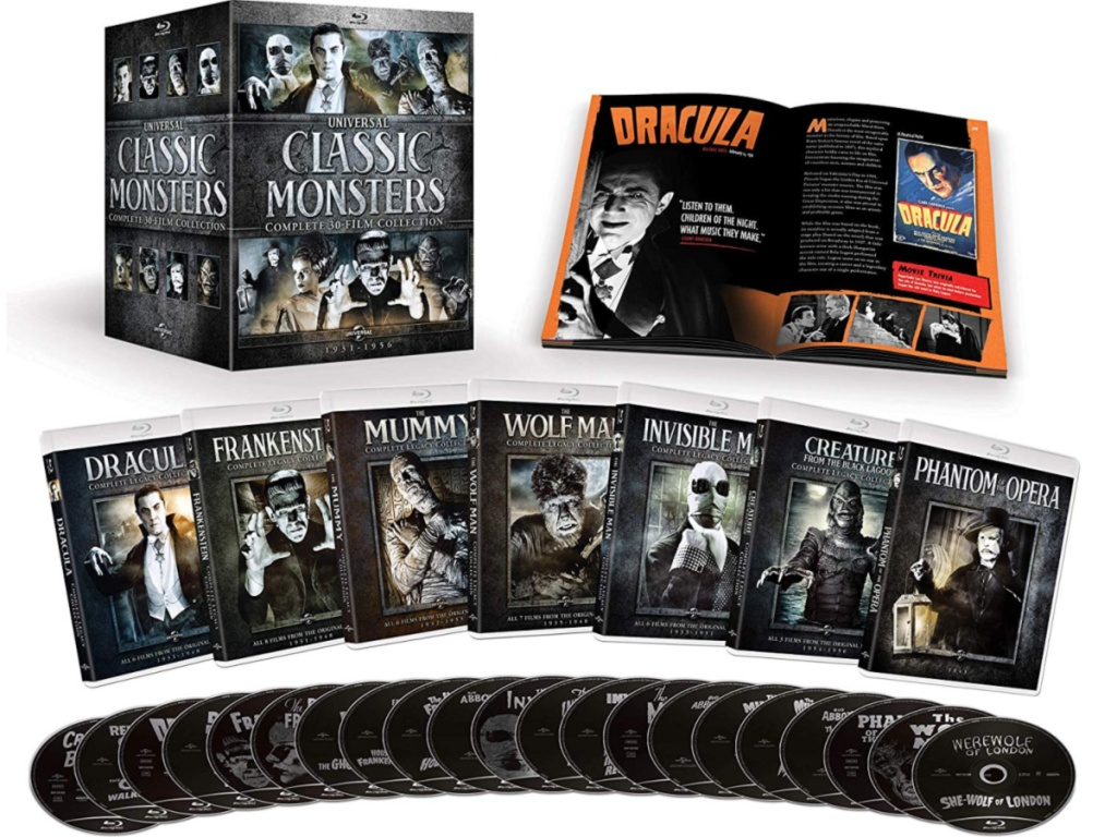 Universal Classic Monsters Complete 30-Film Collection with contents out