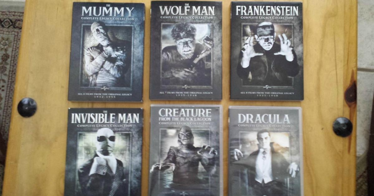 Six classic Universal Monster Blu-ray sets
