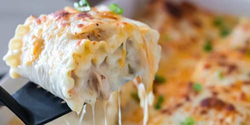 Chicken Lasagna Roll-Ups (Freeze This Casserole for Busy Weeknights)