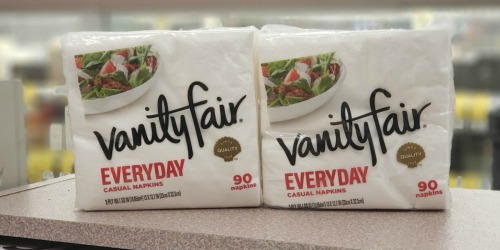 Vanity Fair 90-Count Napkins Only 99¢ Each at Walgreens + More