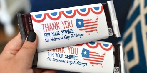 Free Veterans Day Thank You For Your Service  Printable Cards and Candy Bar Wrappers