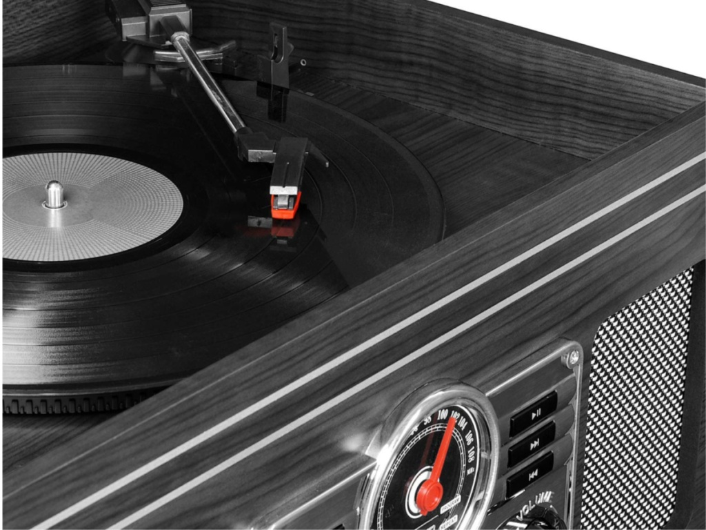 Victrola Nostalgive Classic Wood 6-in-1 Bluetooth Turntable (1)