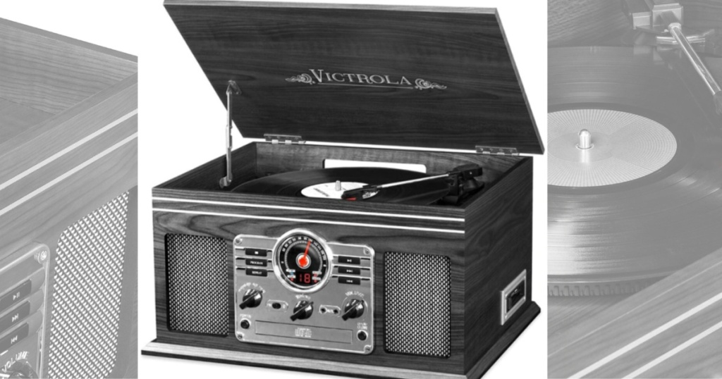 Victrola Nostalgive Classic Wood 6-in-1 Bluetooth Turntable