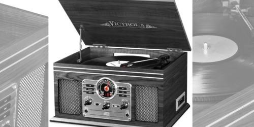 Victrola Nostalgic 6-in-1 Bluetooth Turntable Only $39.99 Shipped | Great Reviews