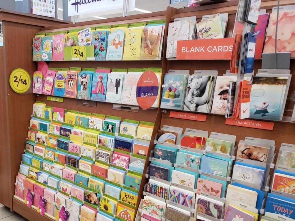 Walgreens Hallmark Cards shelf
