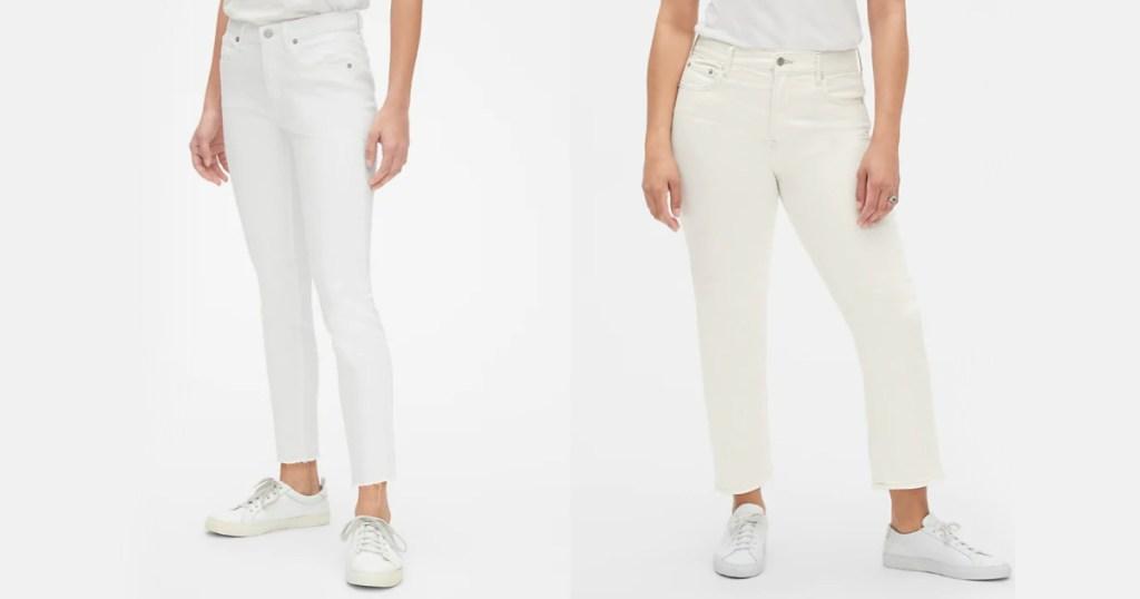 two women wearing gap pants