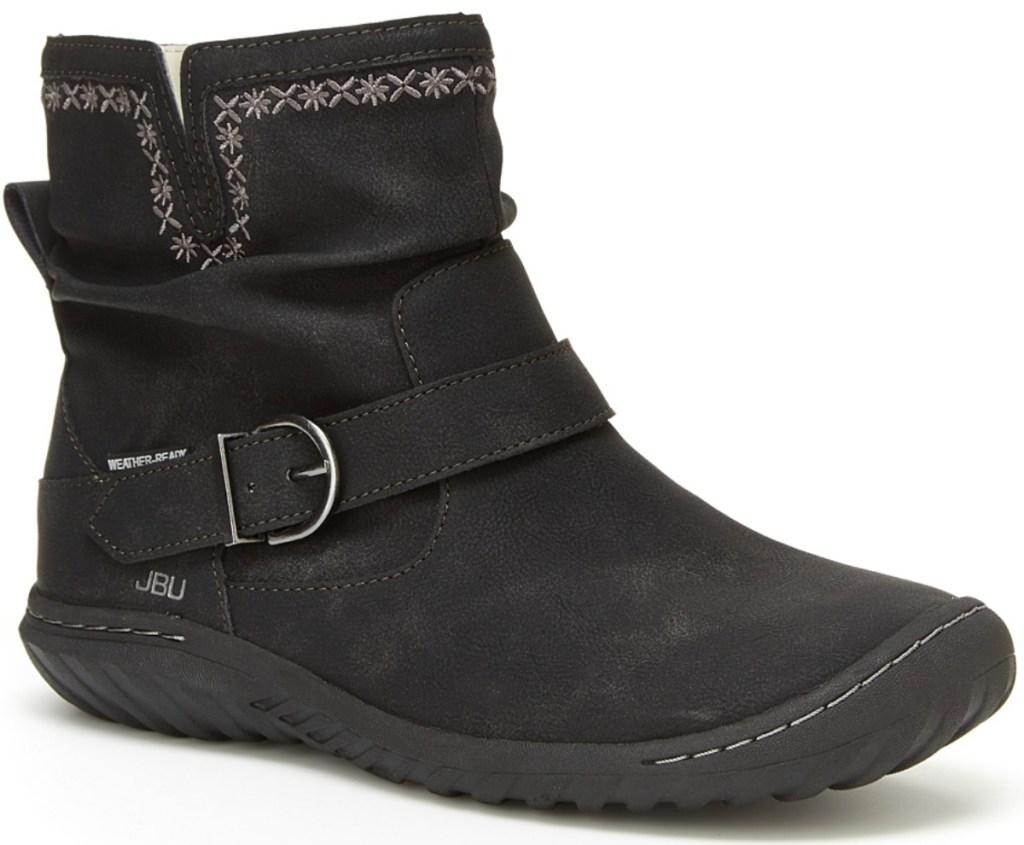 Women's Jambu faux leather Dottie Boots in black