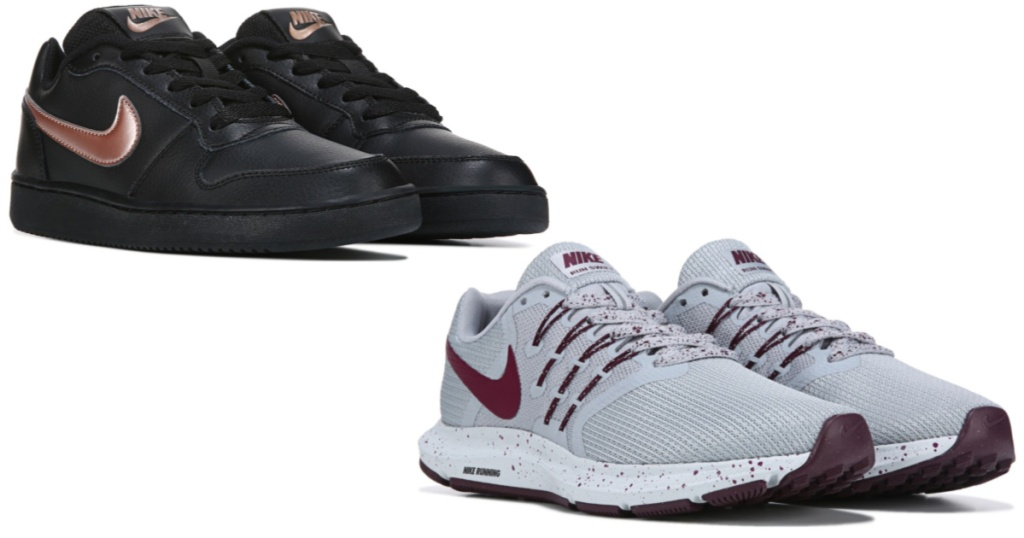 two pairs of womens nike shoes