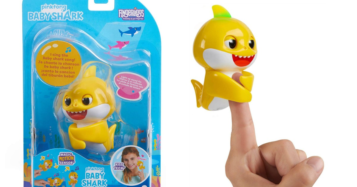 baby shark fingerling in and out of package