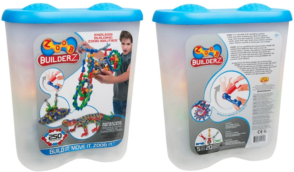 Front and back view of ZOOB Builderz Set