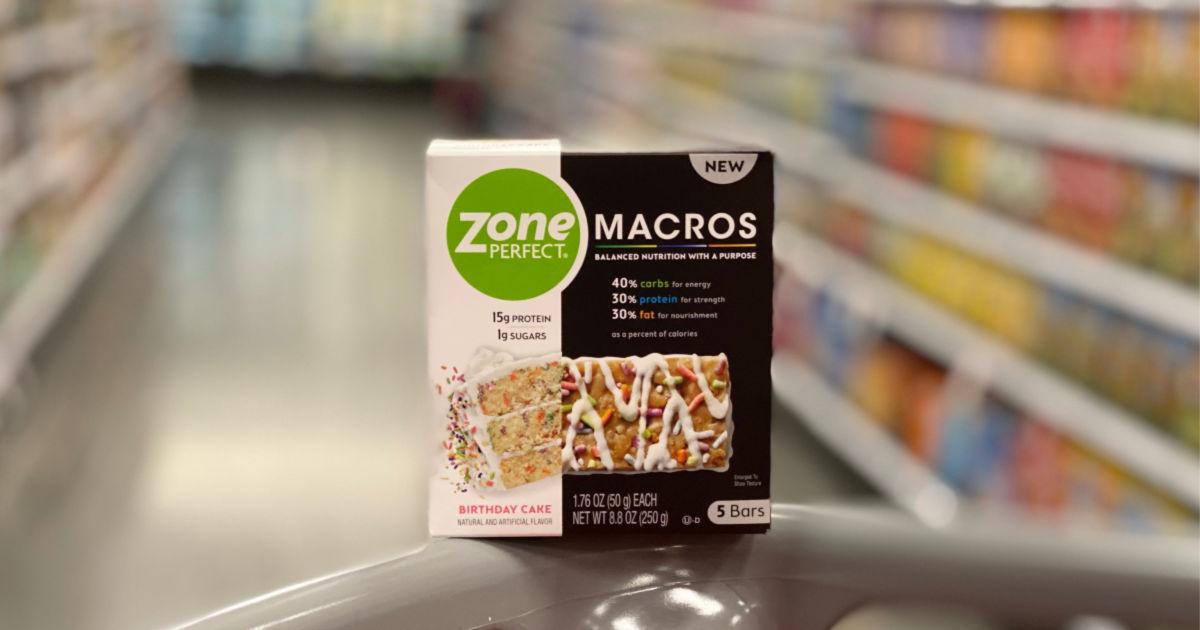 box of zoneperfect bars at target