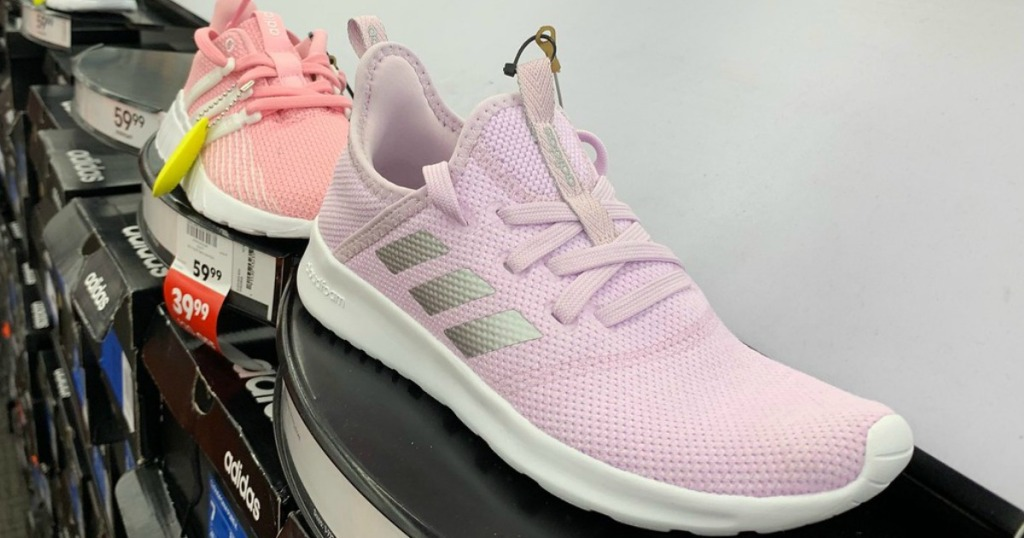 adidas Kids' Preschool Cloudfoam Pure Running Shoes in pink silver