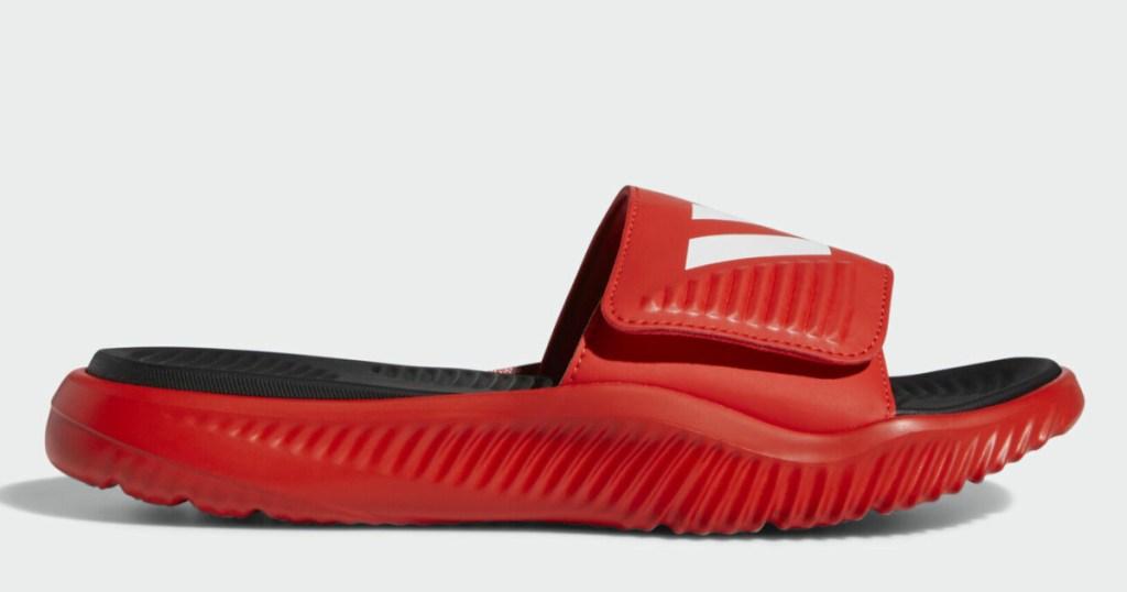 mens red adidas slides