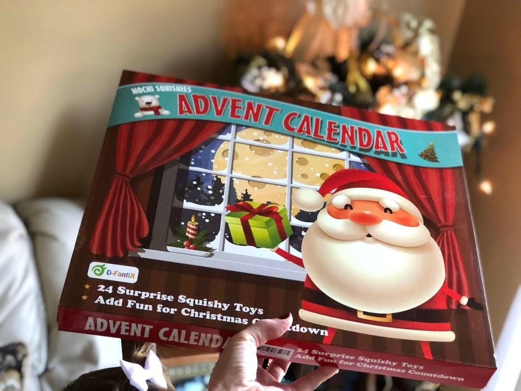 hand holding advent calendar