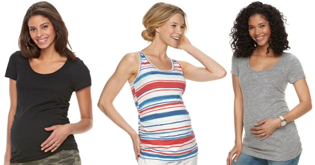aglow maternity kohls tops