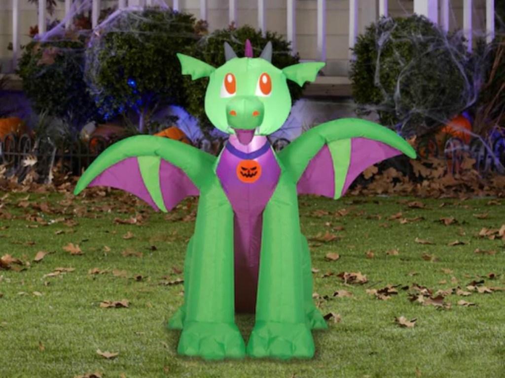 big dragon airblown lawn ornament