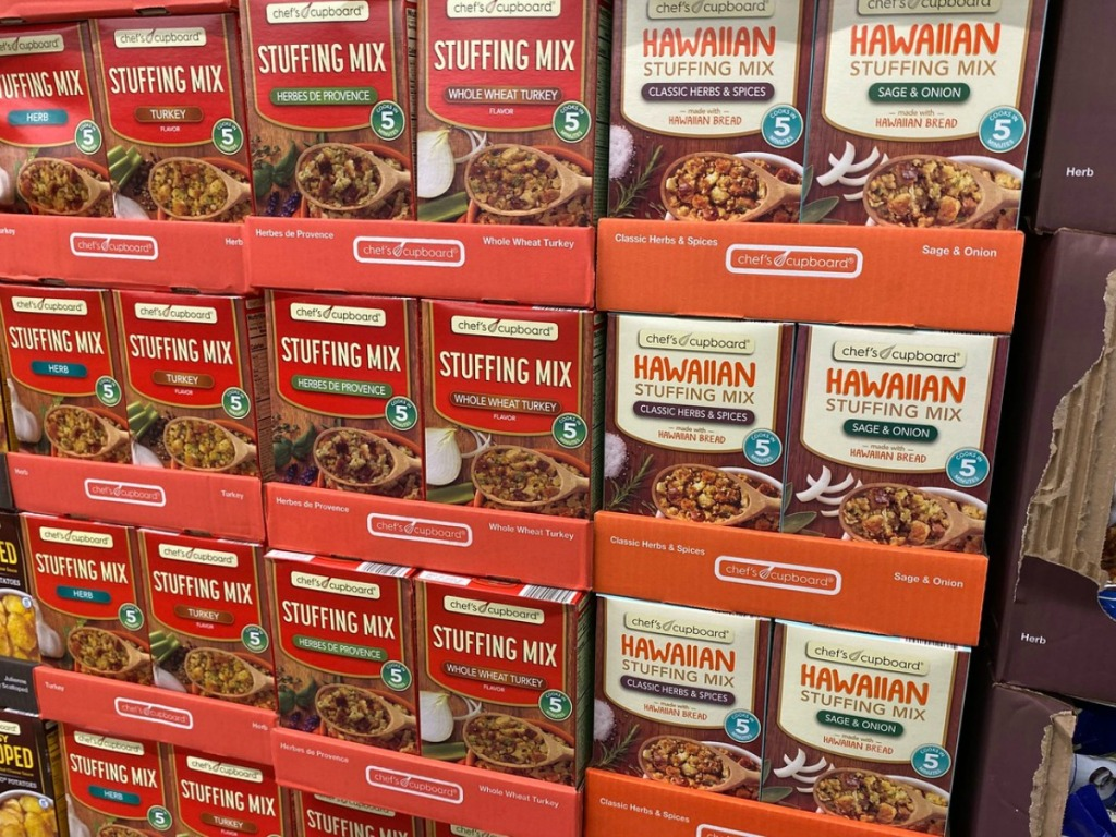 boxes of stuffing on store display