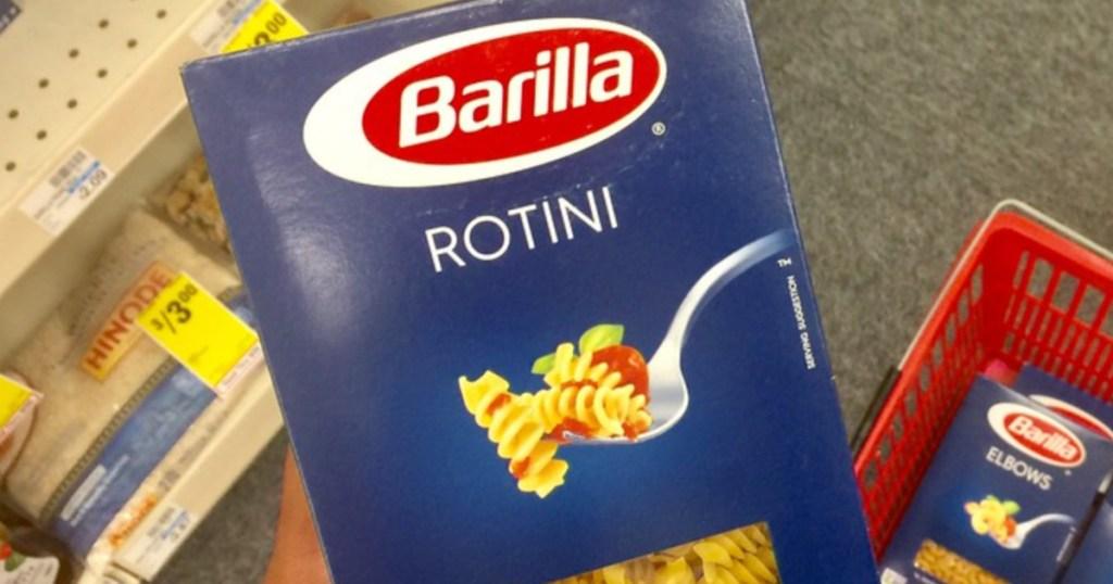 barilla rotini pasta in store
