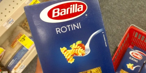 Barilla Pasta as low as 80¢ Per Package Shipped at Amazon | Rotini, Rigatoni & More