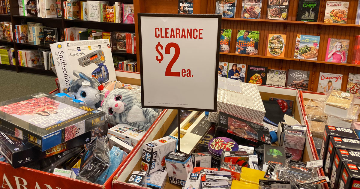Barnes and Noble $2 clearance sale