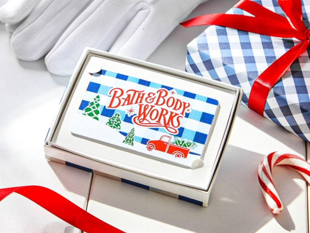 bath & Body Works Gift Card in box