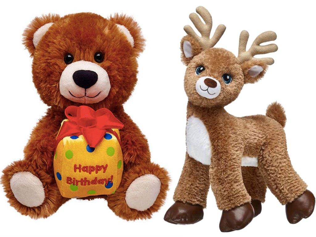 Build a bear Vintage Birthday Bear and Deer