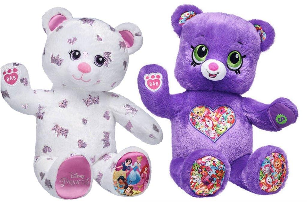 Build A Bear Disney and Shopkins Bears
