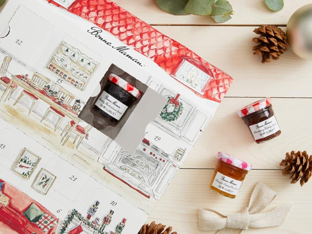 Advent calendar and jelly jars